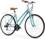 "sixthreezero Pave N' Trail Women's Hybrid Road Bicycle w/Rear Rack, 26"" Whee"