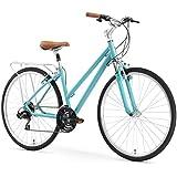 "sixthreezero Pave N' Trail Women's Hybrid Road Bicycle w/Rear Rack, 26"" Wheels/ 17"" Frame"
