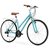 sixthreezero Pave n' Trail Women's 21-Speed Hybrid Road Bicycle, Teal Review