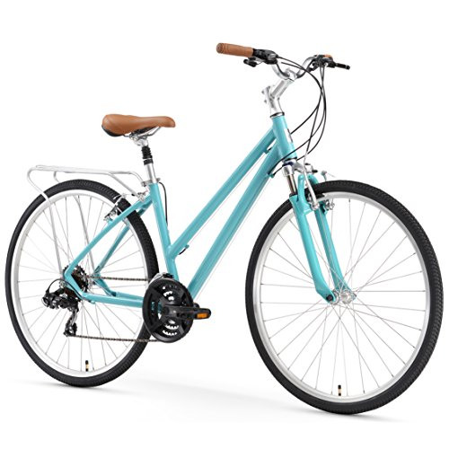 "sixthreezero Pave n' Trail Women's 21-Speed Hybrid Road Bicycle, Teal 26"" Wheels/ 17"" Frame"