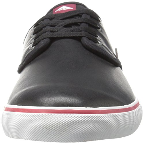 Emerica Wino Cruiser, Color: Black/White/Burgundy, Size: 41 EU / 8 US / 7 UK