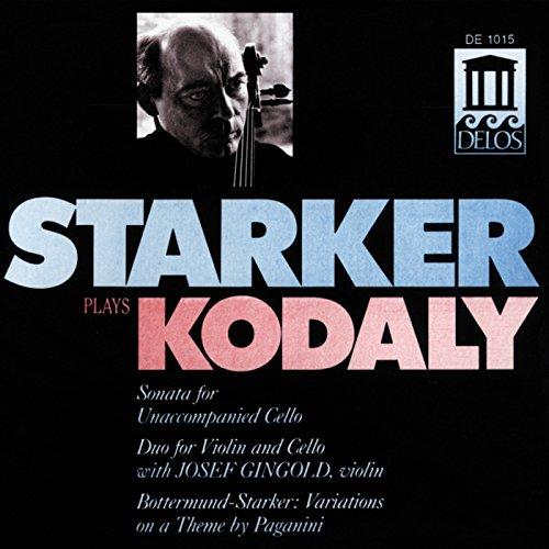 Kodaly, Z.: Cello Sonata / Duo / Bottermund, H.: Variations On A Theme by Paganini