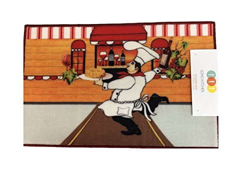 Soho Italian Chef Kitchen Rug With Non Skid Back
