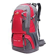 Victrax 60L Hiking Backpack Water Resistant Outdoor Sport Daypack with Rain Cover for Travel Mountaineering Cycling Running Trekking