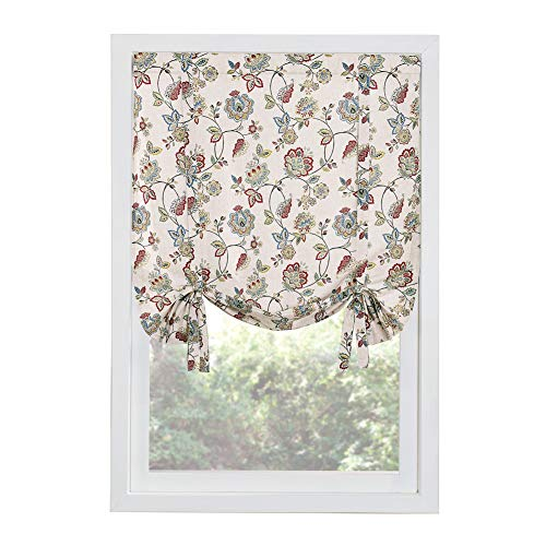 "Renaissance Home Fashion Colette Printed Drape Shade, 44"" x 63"", Jewel"