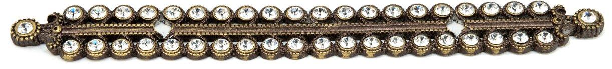 Carpe Diem Hardware 894-3C Cache Antique Brass Escutcheon  with Swarovski Crystals