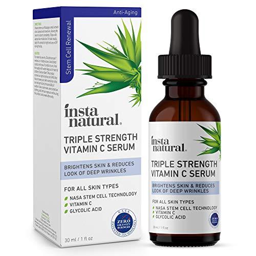 Vitamin C Face Serum – Triple Strength Anti Aging, Wrinkle & Brightening Facial Serum – Antioxidant Rich, Hydrating…