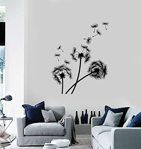 Seed Ornament - Wall Vinyl Decal Dandelions Puffball Bouquet of Flowers Blowing Seeds Flower Ornament Modern Home Decor