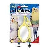 JW Pet Company Activitoy Fancy Mirror Small Bird Toy, Colors Vary