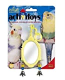 JW Pet Company Activitoy Fancy Mirror Small Bird Toy, Colors Vary, My Pet Supplies