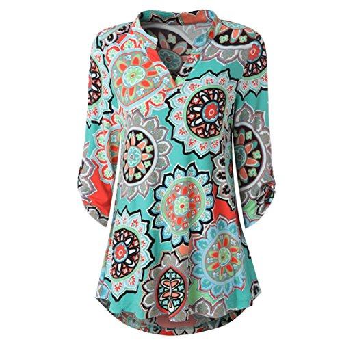 [S-XL] レディース Tシャツ Vネック 花柄 カジュアル 長袖 トップ おしゃれ ゆったり 人気 高品質 快適 薄手 ホット製品 通勤 通学