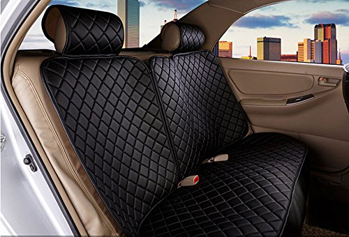 18pc superior quality luxury black Seat Covers imitation leather Seating Universal Full Set car seat cover Easy to install Fit Most Car by Maimai88 (Image #1)