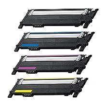 TONER4U ® 1 Set for CLT-K406S,CLT-M406s,CLT-C406s,CLT-Y406s New Compatible Toner Cartridges for Samsung CLP-360 ,CLP-365W,CLP-368W,CLX-3300,CLX-3305FW,CLP-365,Xpress C410W,Xpress SL-C460FW, Xpress SL-C460W