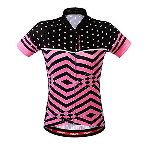 Aogda Cycling Jerseys Women Bike Shirts Bicycle Bib Shorts Ladies Biking Pants Tights Clothing (Jerseys 7, - Apparel Ladies Cycling