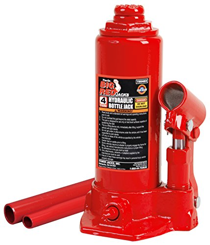 Torin Big Red Hydraulic Bottle Jack, 4 Ton Capacity