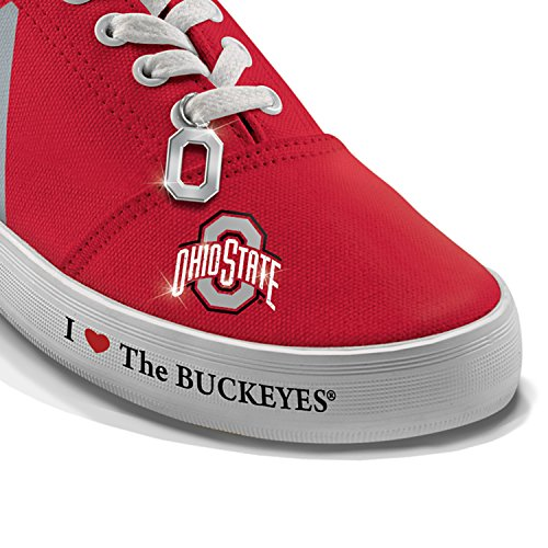 I Love Ohio State The Buckeyes Womens Shoes by The Bradford Exchange Multicoloured YJ43pj