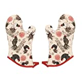 Now Designs 805211a Oven Mitt, Set of Two, Rustic Rooster