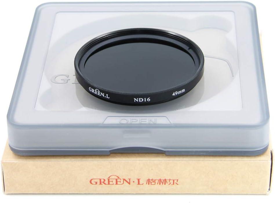 GREEN.L 58mm ND16 ND Filter Slim Neutral Density Lens Filter Optical Glass 4 Stop