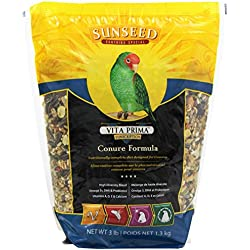 Sunseed Vita Prima Sunscription Conure Food, High-Variety Formula - 3 Lbs Size