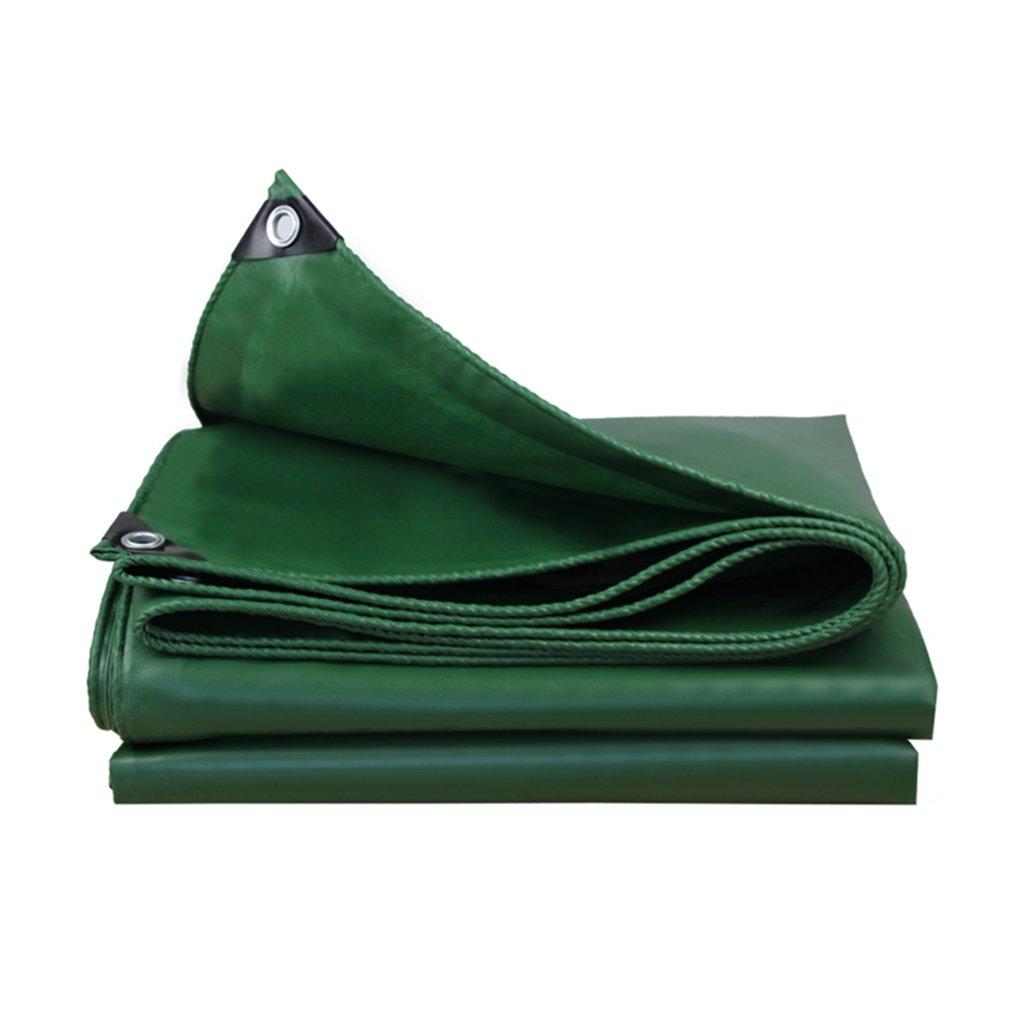 タープ ターポリン キャンバス雨に対する日焼け防止で使用される強力な防水日除け高品質保護層、緑、厚さ0.45mm、550g / m2、12サイズのオプションがあります。 (サイズ さいず : 4 * 4m) 4*4m  B07GXM74KT