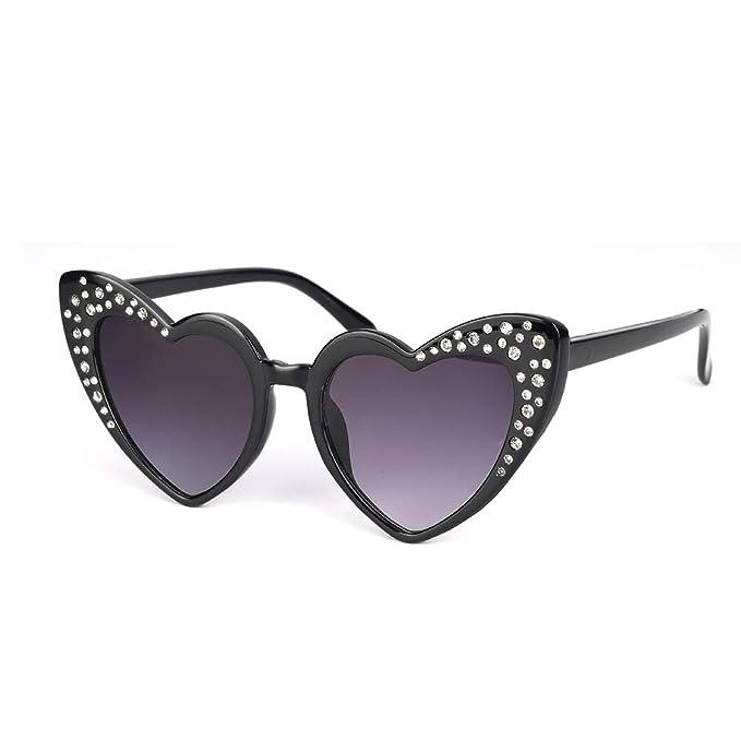 Amazon.com: LOPHORINA Gafas de sol con forma de corazón de ...