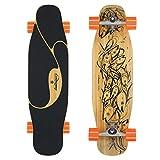 Loaded Boards Poke Bamboo Longboard Skateboard Complete (80a 4 President Wheels, Carver CX4 Trucks)