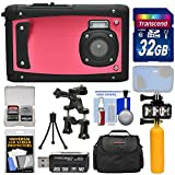 underwater camera coleman - Coleman Venture HD C40WP Shock & Waterproof Digital Camera (Red) with 32GB Card + Case + Underwater LED Light + Floating Buoy + Tripod + Bike Mount + Kit