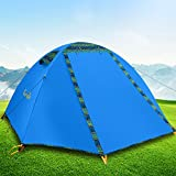 Backpacking Tent for Two Persons with Led,Campla Lightweight Waterproof Aluminum poles Tent for Camping Hiking Three Seasons