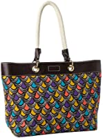 MILLY Scallop Print Tote