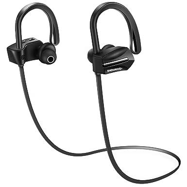 Showkoo Bluetooth Auricular inalámbrico Deportes Auriculares con micrófono Resistente al Agua IPX7 Auriculares Running Yoga Auricular