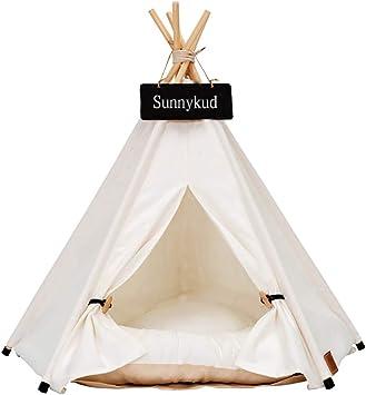 Sunnykud Tipi Zelt für Haustiere Hundezelt Katzenzelt
