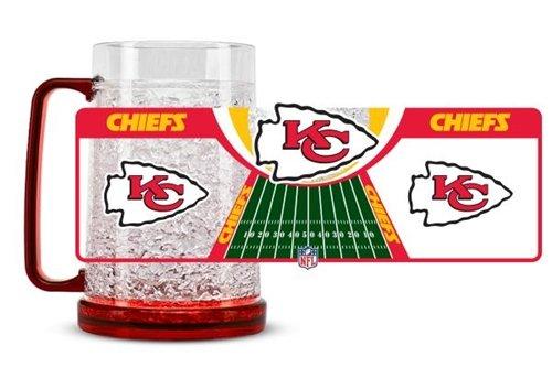 Kansas City Chiefs Crystal Freezer Mug Hall of Fame Memorabilia