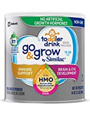 Go & Grow by Similac Non-GMO Toddler Milk-Based Drink with 2'-FL HMO for Immune Support, Powder