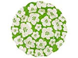 Green & White Floral Cocktail Plates-Package Quantity,72