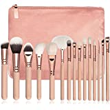 Hot Sale! Makeup Brush,Canserin 15 PCS Pro Makeup Brushes Set Cosmetic Complete Eye Kit + Case (Brown)
