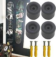 Pmsanzay 4/PK Minimalist Snowboard Display | Ski and Snowboard Storage Rack | Snowboard Wall Mount Display Han