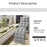71 Inch Patio Chaise Lounge Cushion Indoor