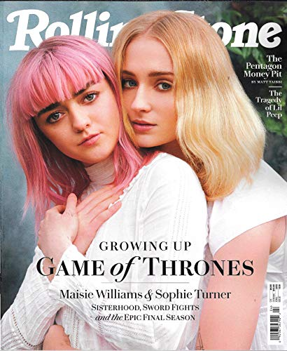 (Rolling Stone Magazine April 2019 GAME of THRONES MAISE WILLIAMS & SOPHIE TURNER Cover, The Pentagon Money Pit, The Tragedy of Li'l Peep)