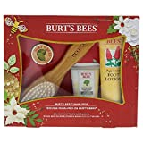 Burt's Bees Mani Pedi Gift Set, 4 Hand & Feet Products - Hand Cream, Cuticle Cream, Foot Lotion and EcoTools Foot Brush & Pumice