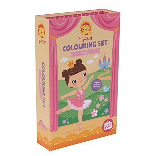 (Ballerina Set for Girls. Ballet Colouring Book Activity Set for Girls. Great travel activity packs for kids / Activity Book. Great Gifts for Girls 6 years old by Tiger Tribe)