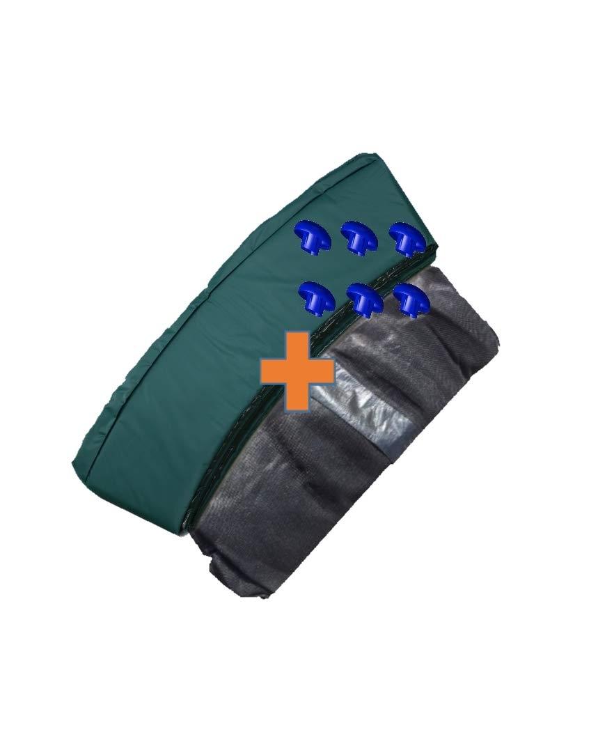 awshop24 Trampolin Randabdeckung Gr/ün Sicherheitsnetz 6 Stangen 305 cm /Ø