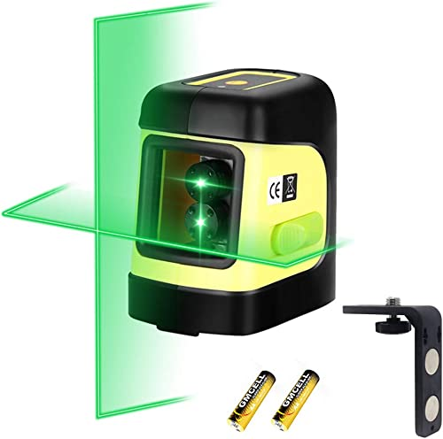 Firecore F112G Self-Leveling Cross-Line Laser Level with Magnetic Bracket, Green