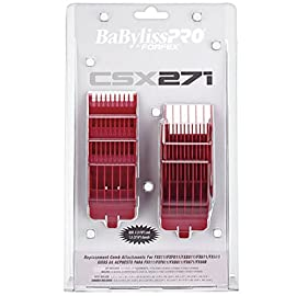 BaBylissPRO Clipper Comb Guard 8 PC Set for FXF811 RED - 51YmK3z6phL - BaBylissPRO Clipper Comb Guard 8 PC Set for FXF811 RED