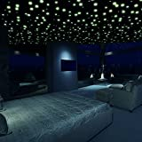 Dark Glow Star - Glow in the Dark Stars Stickers | Glow Stars for Ceiling and Wall Sticker Décor | 3D Realistic in DIFFERENT SHAPES / SIZES for Kids Room (322 Pieces) - Great Surprise Gift for Kids!
