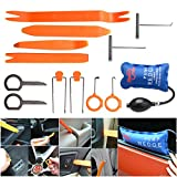 13Pcs Pry Bar Home Hand Kit Dash Door Kit Auto Trim Upholstery Removal Kit Installer Pry Tool Panel No Scratch Removal Tools Auto Refit Trim Clip Fastener Remover Pump Wedge Air Shim Inflatable Sets