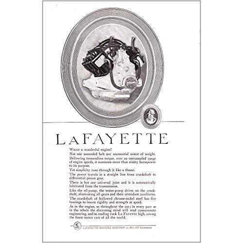 RelicPaper 1920 Lafayette Motors: What a Wonderful Engine, Lafayette Motors Print Ad