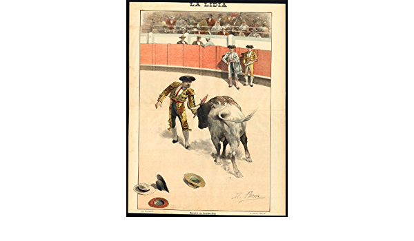 Impresión antigua - Las corridas de toros-tauromachia-arena ...