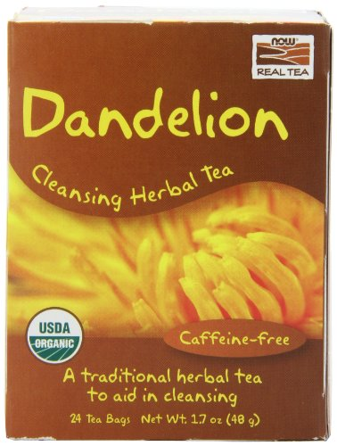 now foods organic dandelion cleansing herbal tea,24-count