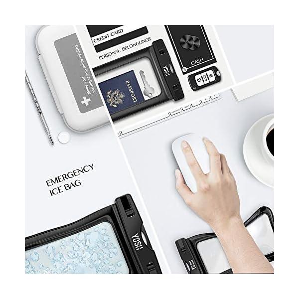 YOSH Funda Impermeable Móvil Universal 2 Unidades, IPX8 Certificado, Bolsa Sumergible para iPhone X 8 7 6s Samsung J5 J3 J7 S8 S9 Huawei P20 P10 P9 y Otros Móviles hasta 6.3 Pulgadas 7