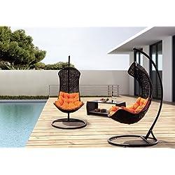 Clove – Balance Curve Porch Swing Chair - Model – Y9091Bk